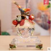 欧式家居摆件大吉大利水晶工艺品摆设新婚礼品送朋友创意结婚礼物