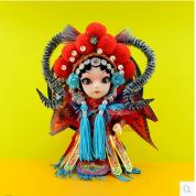 京剧脸谱娃娃 老北京特色绢人摆件 Q版唐娃娃 民间手工艺品 礼品