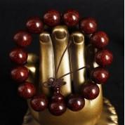 正品印度小叶紫檀佛珠高密度满金星2.0老料高油性男士手串手链 12mm满金星